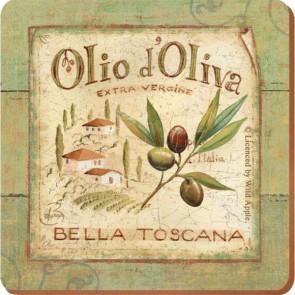 Creative Tops Korkové prostírání Olio d'Oliva Rozměry: 10x10cm - 4ks