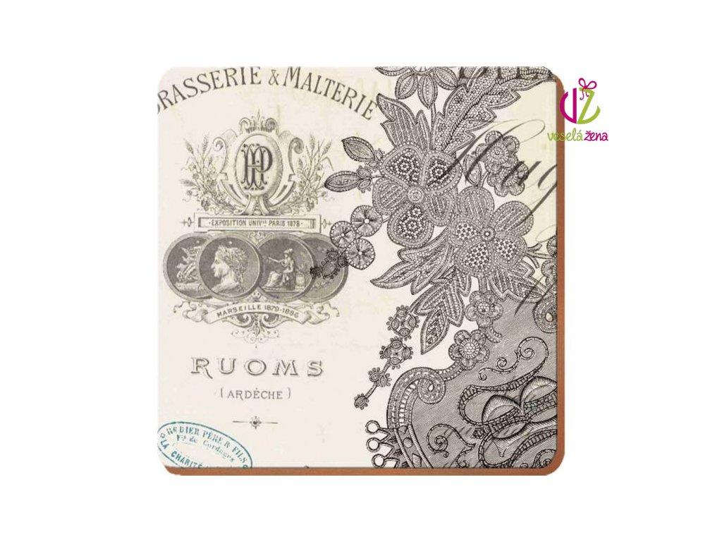 Creative Tops Korkové prostírání Parisian Lace Rozměry: 12x12cm - 4ks