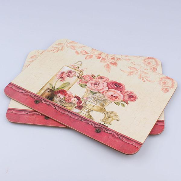 Casa de Engel Korkové prostírání růže Rozměry: 21x29cm - 2ks