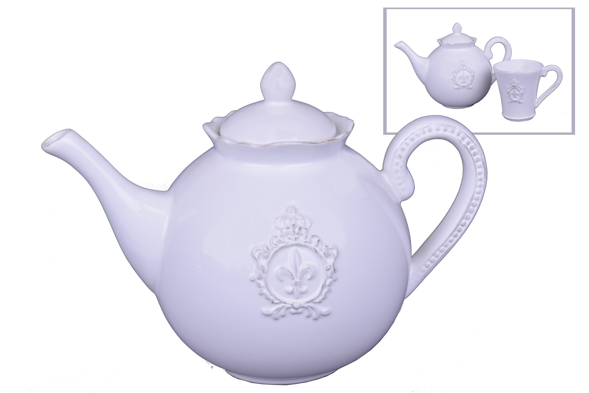 Konvička na čaj se znakem a korunkou 24x17x14cm