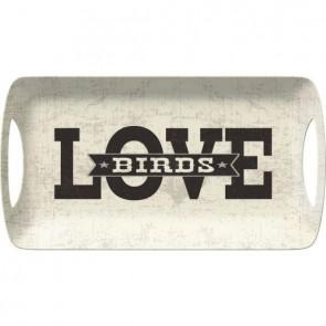 Creative Tops Servírovací tác LOVE BIRDS Rozměry: 38x20cm