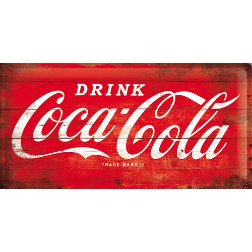 Nostalgic Art Plechová cedule Coca Cola Refresh Rozměry: 25x50cm