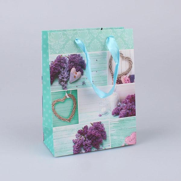 Casa de Engel Papírová dárková taška Šeřík 12ks 18×24 cm