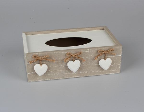 Casa de Engel Krabička na kapesníky se srdíčky | 4 varianty Barva: hnědá DACA-D089/HNE