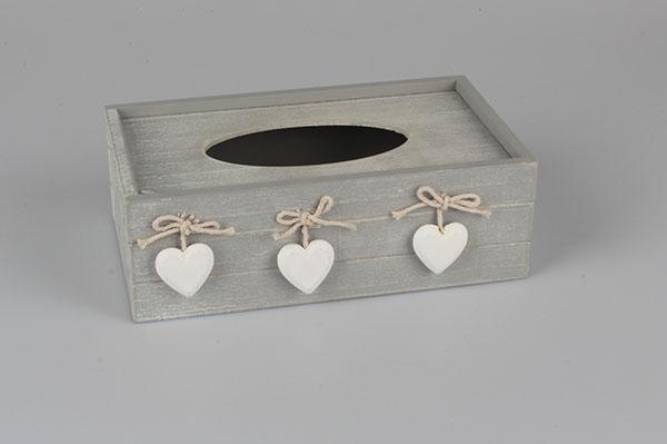 Casa de Engel Krabička na kapesníky se srdíčky | 4 varianty Barva: šedá DACA-D086/SED