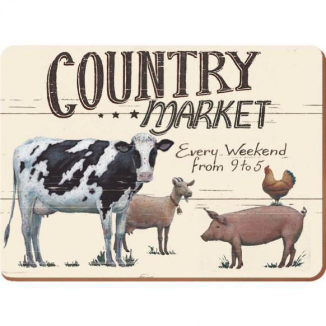 Creative Tops Korkové prostírání Farmers Market Rozměry: 29x40cm - 4ks