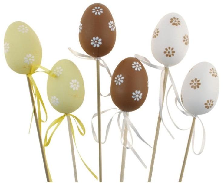 Anděl Přerov Vajíčko plastové zápich 6cm Barva: bílá