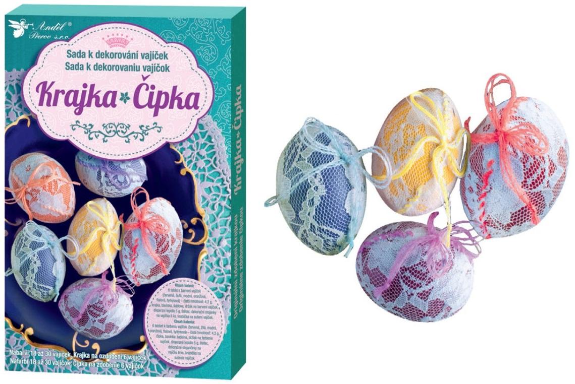 Anděl Přerov Sada k dekorování vajíček krajka