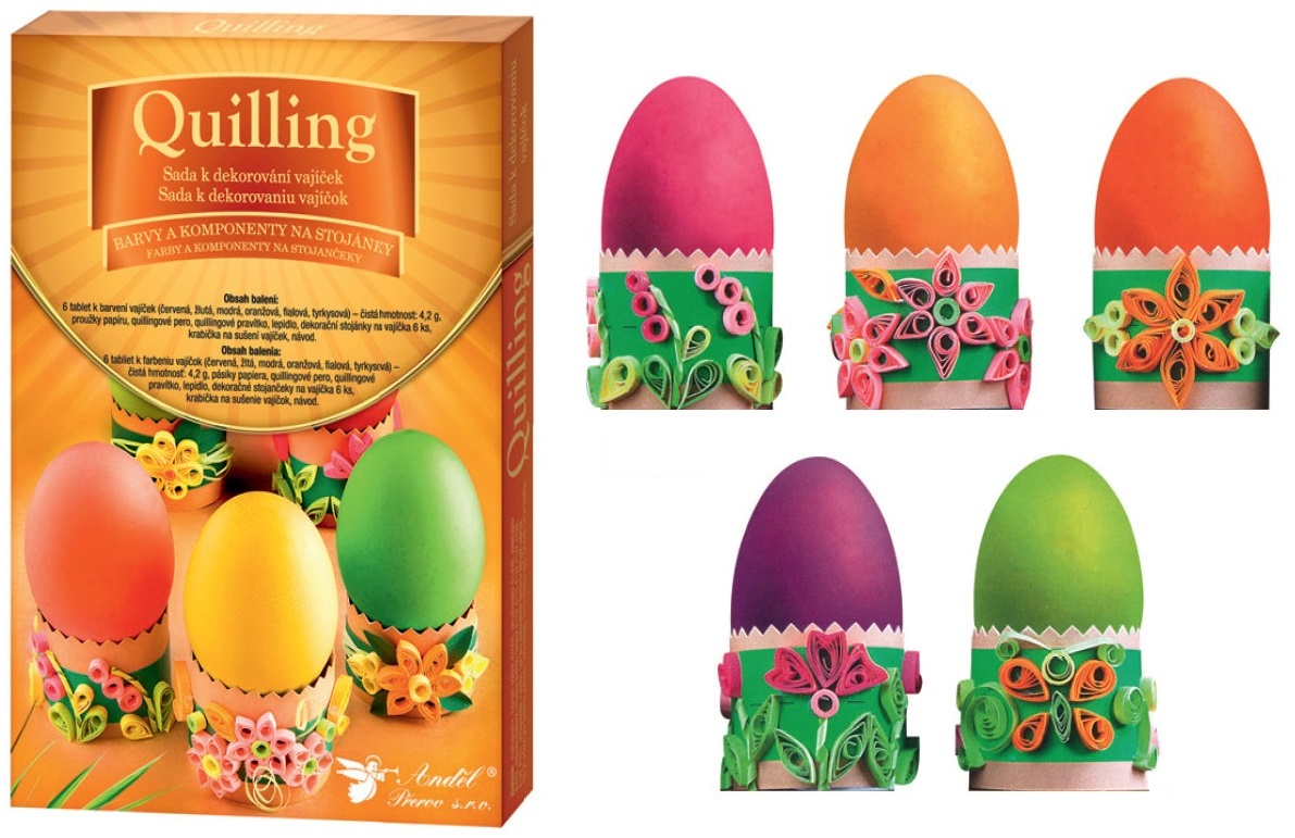 Anděl Přerov Sada k dekorování vajíček quilling
