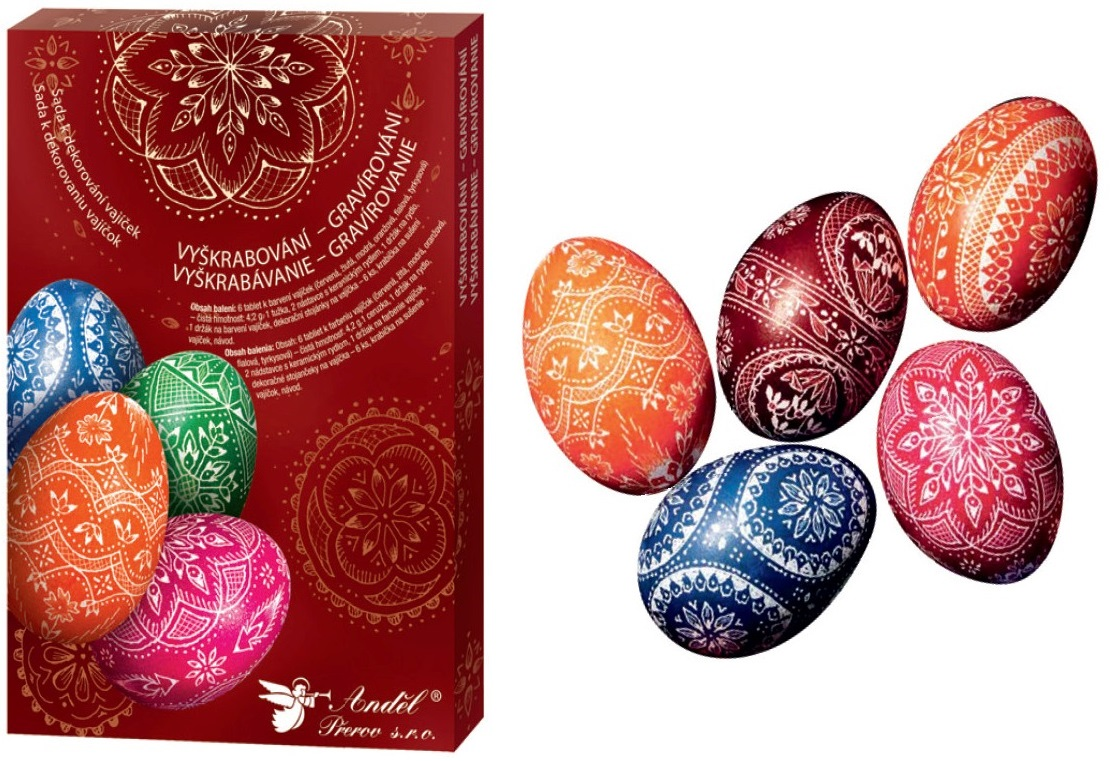 Anděl Přerov Sada k dekorování vajíček vyškrabování