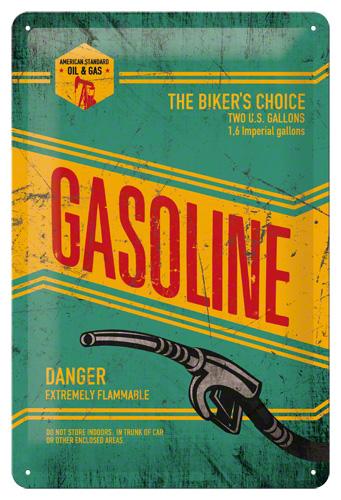 Nostalgic Art Plechová cedule Gasoline Rozměry: 20x30cm