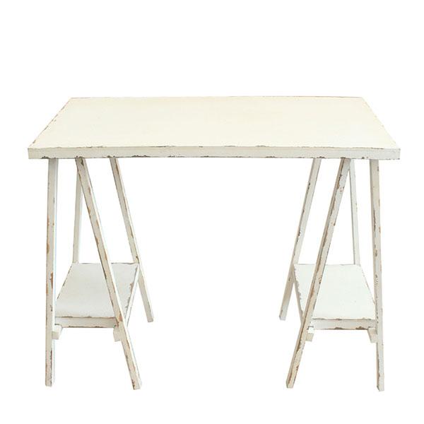 Casa de Engel Dřevěný stůl na květiny 80×42×70 cm Barva: bílá