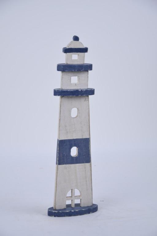 Dekorace dřevěný maják Rozměry: 9x32,5x4,5