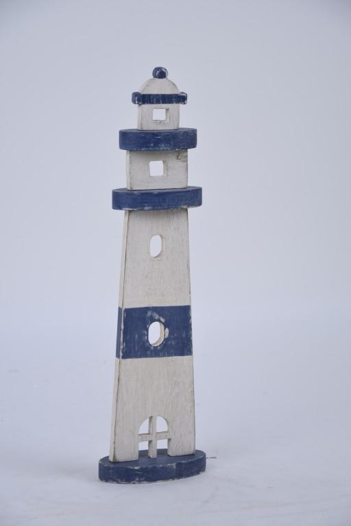 Dekorace dřevěný maják Rozměry: 12x41,5x5 cm