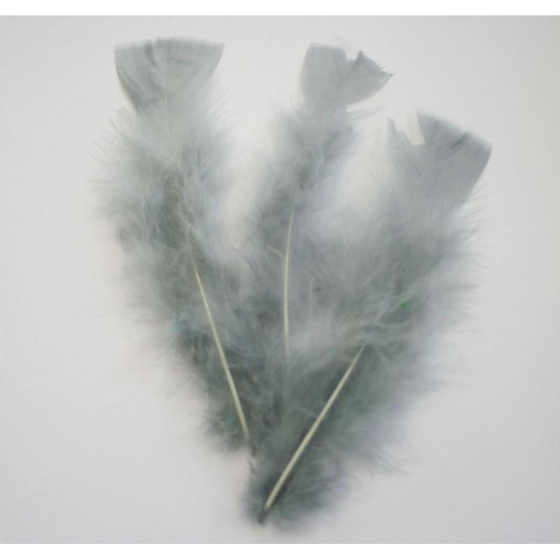 Ambiente Peříčka dekorační balení 12ks Barva: šedá