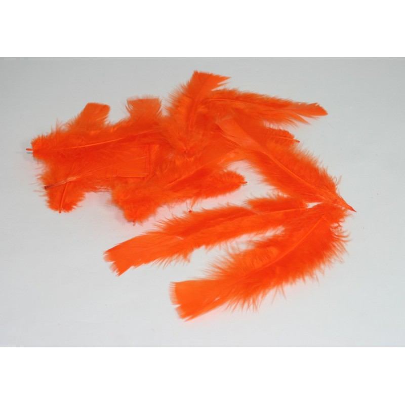 Ambiente Peříčka dekorační balení 12ks Barva: oranžová