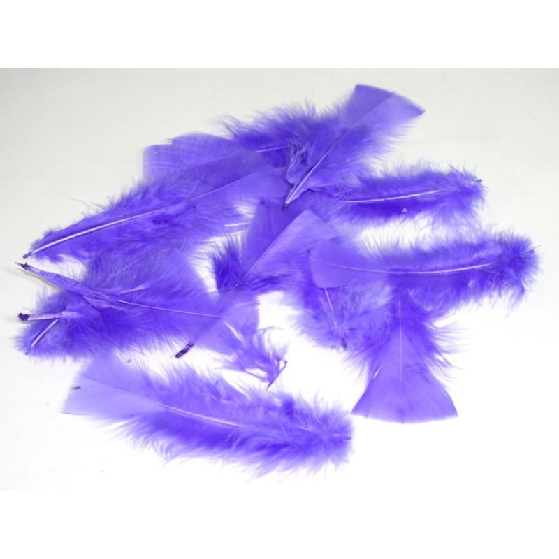 Ambiente Peříčka dekorační balení 12ks Barva: fialová