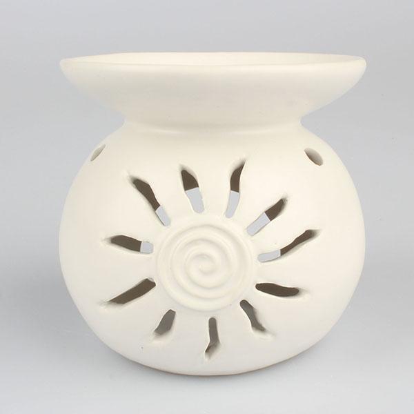 Casa de Engel Aroma lampa bílá keramická slunce 11 cm