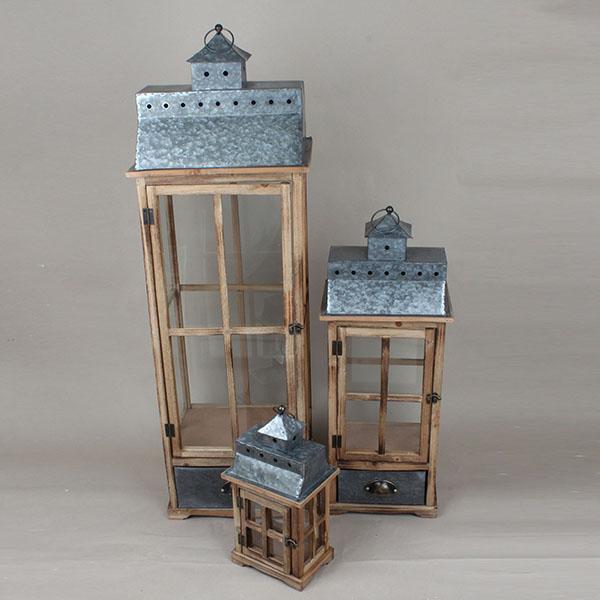 Casa de Engel Dřevěná lucerna II. sada 3ks