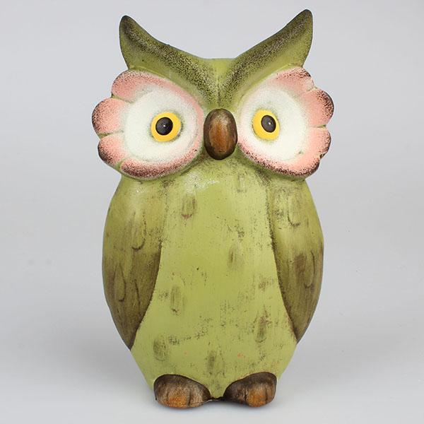 Dekorace keramická sova
