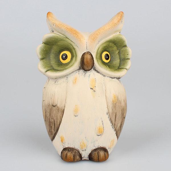 Dekorace sova keramická Rozměry: 10,5 × 16 × 7 cm