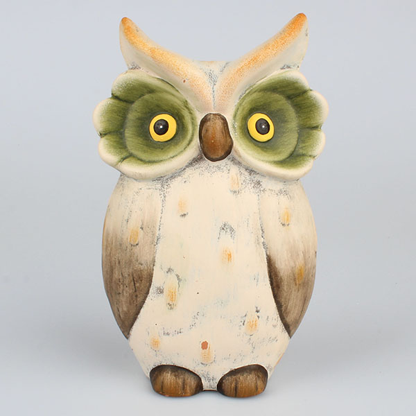 Dekorace sova keramická Rozměry: 13,5 × 21 × 8 cm