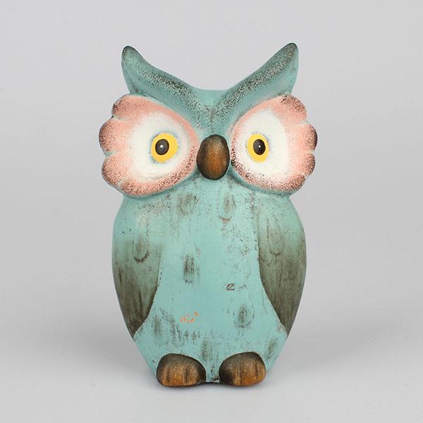 Dekorace sova keramická tyrkysová Rozměry: 13 × 21 × 8 cm