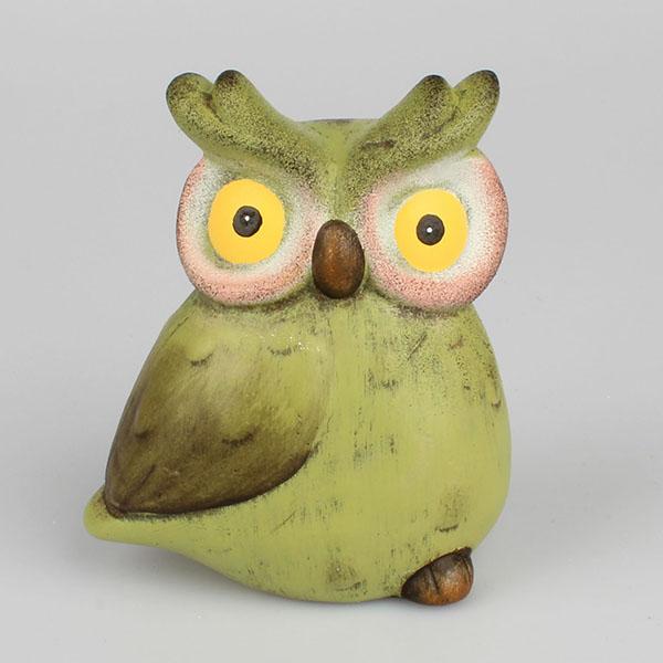 Dekorace keramická sova zelená