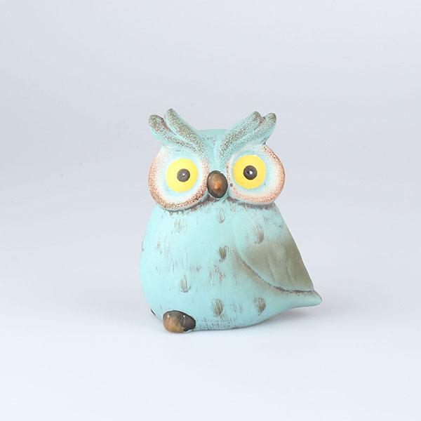 Dekorace keramická sovička Barva: tyrkysová