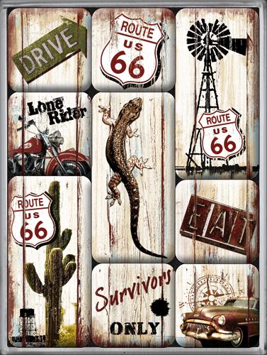 Nostalgic Art Magnetky na ledničku Route 66 SURVIVORS