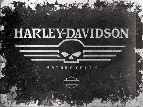 Nostalgic Art Plechová cedule Harley Davidson Motorcycles patina Rozměry: 15x20cm