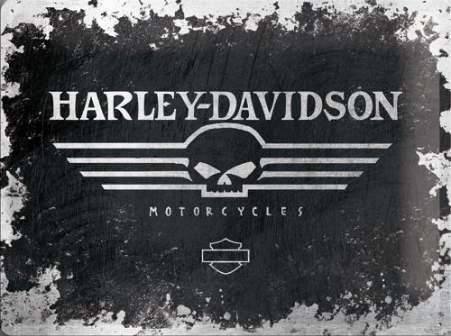 Nostalgic Art Plechová cedule Harley Davidson Motorcycles patina Rozměry: 30x40cm