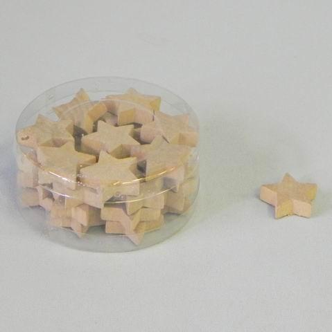 KA Dekorace hvězdy dřevěné set 32ks