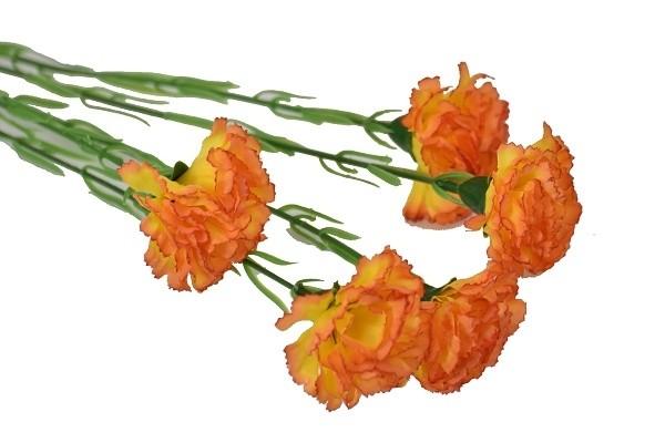 Harasim Kytice karafiátů 61cm Barva: oranžová