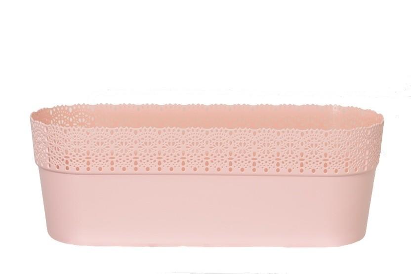 Květináč krajka Bella plast 30cm Barva: růžová