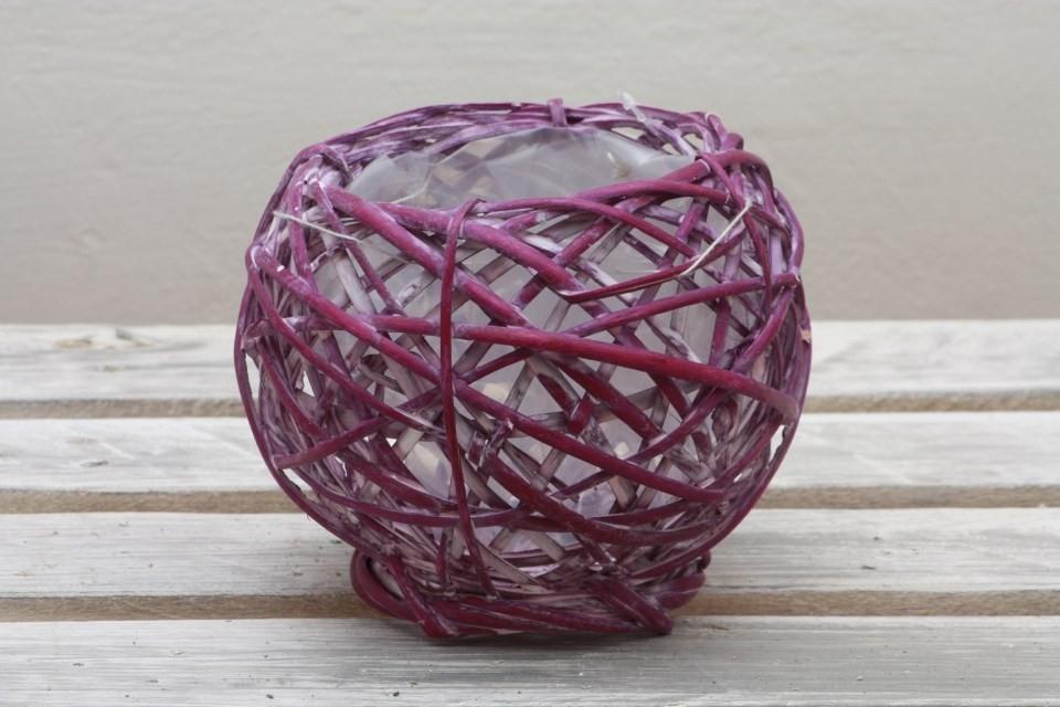 Košík proutěný fialový