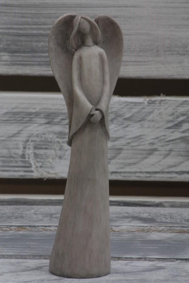 Anděl šedý Velikost: menší