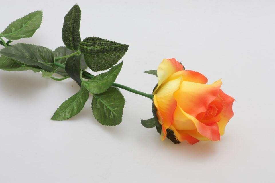 HR Růže umělá 70cm Barva: oranžová