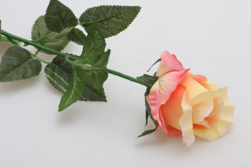 HR Růže umělá 70cm Barva: apricot
