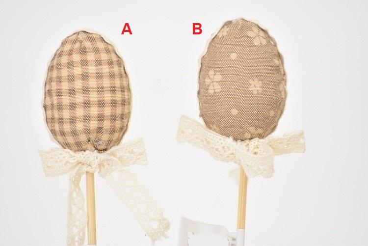 Vajíčko látkové zápich 23cm Barva: hnědá, Provedení: A