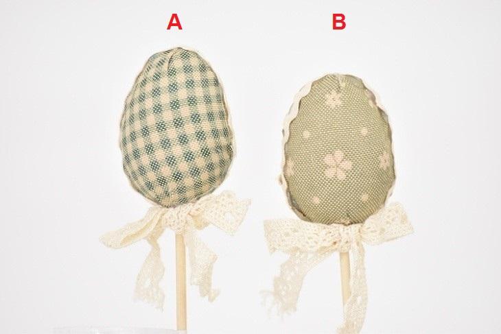 Vajíčko látkové zápich 23cm Barva: zelená, Provedení: A
