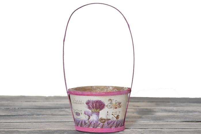 Dřevěný košík Lavender Velikost: střední