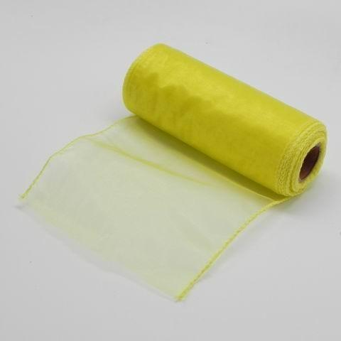 Organza obšitá 15x900cm Barva: žlutá