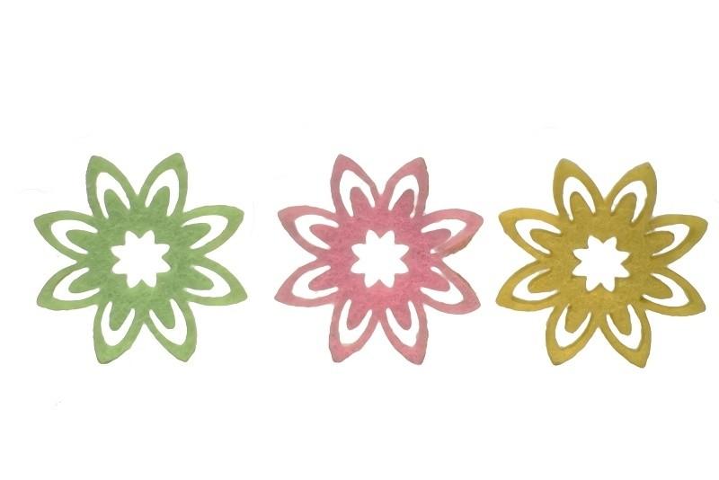 Dekorace filcové květinky