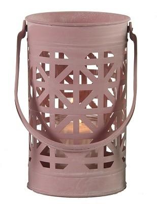 Lucerna kovová s ornamenty Barva: růžová