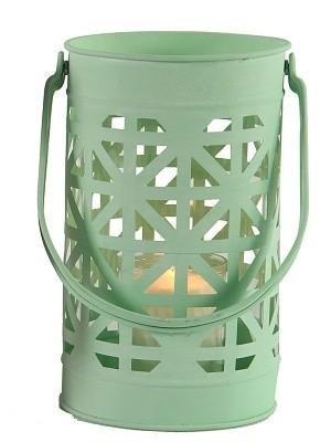 Lucerna kovová s ornamenty Barva: zelená