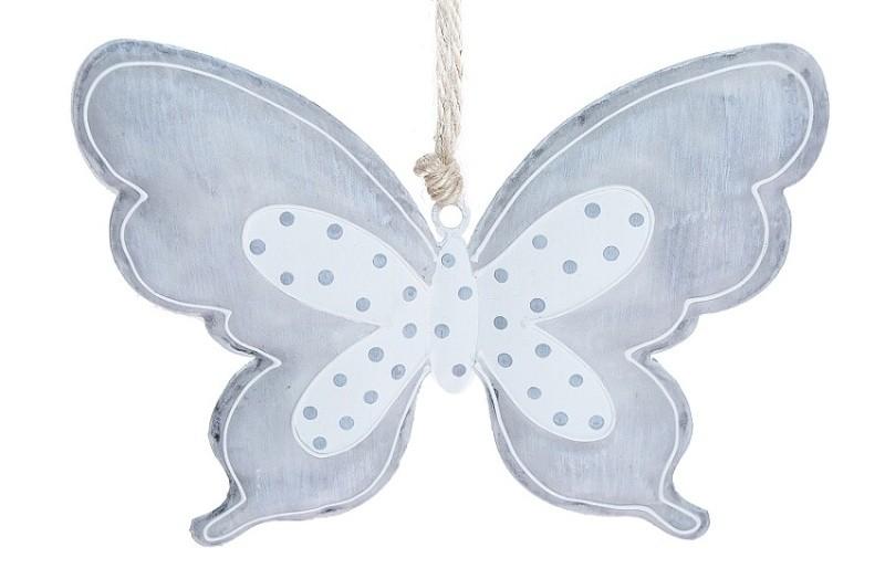 Motýl kovový šedý Velikost: střední