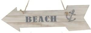 Závěsná dekorace ukazatel BEACH Provedení: Levé