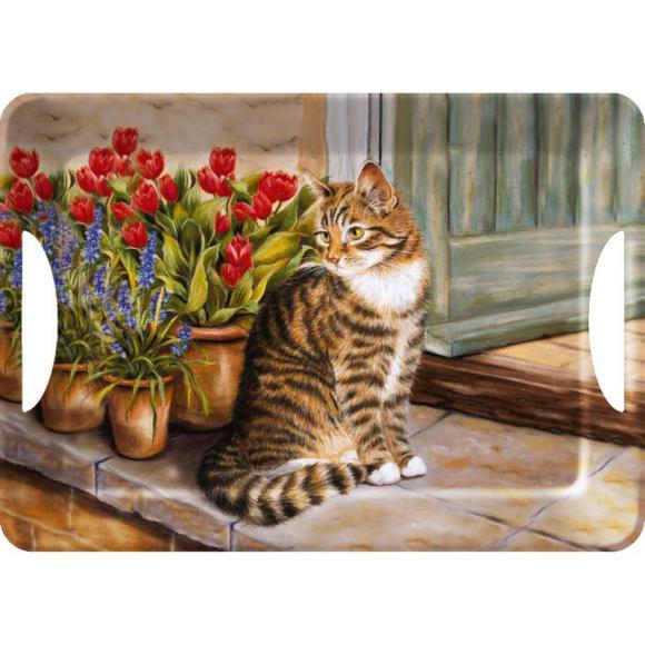 Creative Tops Servírovací tác Cottage Cat Rozměry: 47x33cm