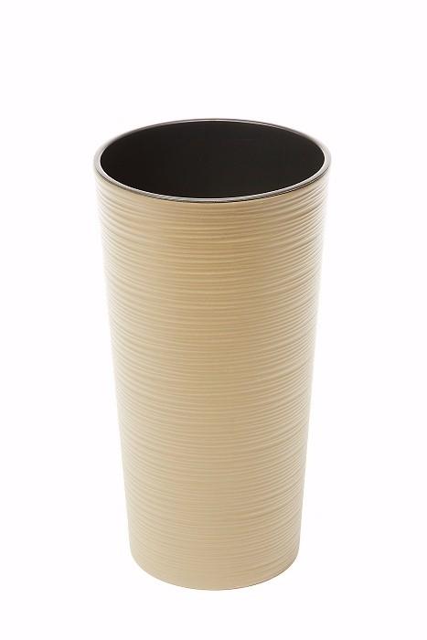 Plastový květináč Lilia vroubek 570mm Barva: bežová